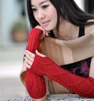 7 Цветов Мода Зимние Женщины вязаные Ромб Белочные Перчатки Бешеные Перчатки Длинные Вязаные Перчатки Зимняя рука Рука