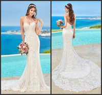 2018 New Lace Wedding Dresses Beads Mermaid Backless Wedding...