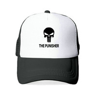 The Punisher Berretti da baseball per donna Uomo US stampato Skull Snapback Cappelli American Skeleton Sniper Tactical Hat Cap YY419