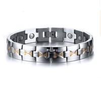 Regalo di Natale con ordine misto * bracciale in acciaio inossidabile nuovo di zecca braccialetto di pietra magnetica fornitore di fabbrica