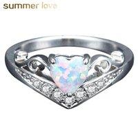 Romantic Lady Opal Ring Creative Creative Heart Foreged Горячие продажи кольцо Обручальное кольцо Подарок для женщин девушек