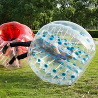 Free Shipping PVC trasparente 5 piedi 1.5M del diametro gonfiabile Bumper Ball umana Battente Bubble Ball Calcio Calcio esterna sfera di Zorb