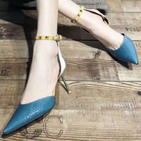 women shoes high heels Rivet design open On formal occasions...