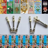 Exotic Carts Cartridges 1. 0ml Gold Ceramic Coil Pyrex Glass ...