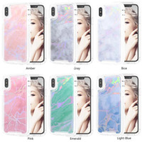 3 in 1 marble grain For iPhone X robot Cell Phone Case Cover...