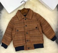 New boys winter jacket 2018 warm handsome coat Kids lattice ...