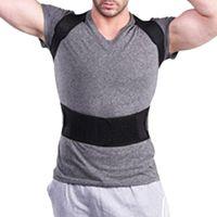 Unisex Wirbelsäulenstützgürtel Magnetic Posture Corrector Neopren Rücken Korsett Brace Straightener Schulterrückengurt