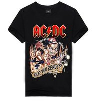 Wholesale- 2018 Nuovo design di alta qualità 100% cotone Metallica Rock band T-shirt uomo fashion street hip hop T-shirt AC DC t-shirt per uomo
