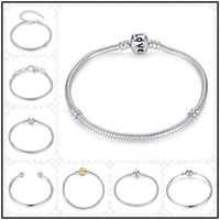 Brief 10 Designs 925 Sterling Silver 3mm Chains for European...