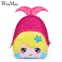 Winmax 2018 девушки красивая Русалка 3D симпатичные водонепроницаемый дети школьные сумки дети мультфильм рюкзак сумки для детского сада детские сумки