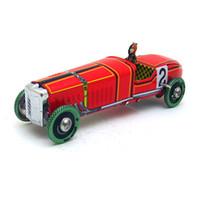 لعبة صفيح نموذج سيارة صفيح، سيارة سباق حمراء إسبانية 2، حنين كلاسيكي ريترو، لحفل كيد 'عيد ميلاد'، جمع، ديكور المنزل