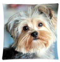 Cut animal YorkshireTerrier Look At You Pillow Cases 18 x 18...