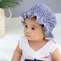 HOT 신생아 카운트 모자 소년 소녀 패션 얼룩말 줄무늬 HatsCute 여름 챙 모자 사진 소품 어린이 Fishmen 모자 0-15M LH7을 두 번 사용