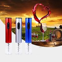Hot Electric Wine Opener Elektrische Automatische Wein Flaschenöffner Automatische Korkenzieher Mit Folienschneider Und Vakuum Stopper 3 Farben