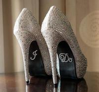 2018 Gümüş Kristal Düğün Ayakkabı Çıkartmalar DIY Gelin Sandal Alt Çıkartmalar Gelin Aksesuarları Ben Veya Bana Çok Ayakkabı Çıkartmalar Temizle Rhinestone