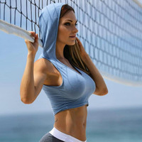 Womens Sexy Hooded Camisoles Tanks Active Jogger Tops Sleeve...