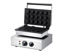 O Envio gratuito de Não-stick 110 V 220 V 15 pcs Mini Ovo Tart Machine Redonda Pastelaria Tart Torta Tartlet Shell Maker Máquina de Ferro Gelado