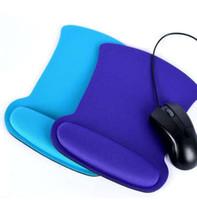 Resto de pulso Mouse Pad Engrossar Macia Esponja Para Optical / Trackball Mat Mouse Pad Computador Durável Comfy Mouse Pad