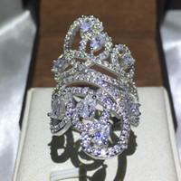 فيكتوريا wieck الصليب خط النساء أزياء diamonique تشيكوسلوفاكيا 925 فضة الاشتباك خاتم الزواج للنساء مجوهرات كبيرة