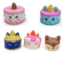 Einhorn Kuchen Hirschkuchen Verschiedene Stile Squishy Kawaii Slowing Nachahmung Einhorn Kuchen Squeeze Vent Squishies Kinder Spielzeug