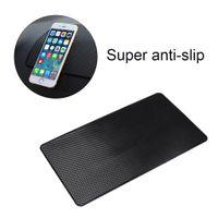 Silicone Gel Car Anti-derrapante Mat Para Celular Enfeites de Consola Central Grade Não-slip Pad 27 * 15 cm Preto