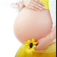 Silicone Twins Quadruplets False Belly Baby Tummy False Pregnant Artificial Bump For False Pregnancy Free Shipping