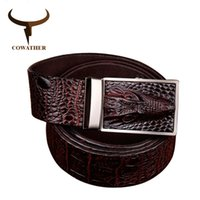 COWATHER 2016 good quality cow genuine leather belts for men...