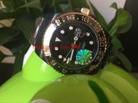 Mükemmel Yüksek Kalite İzle U1 Fabrika GMT 116710 40mm Siyah PVD Kaplama Asya 2813 Hareketi Mekanik Otomatik Erkek Watch Box Saatler