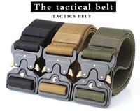Fabrika Toptan 4.5 cm Çok Fonksiyonlu Ordu Eğitimi Taktik CS Açık Naylon Kemer Özelleştirilebilir Logo Olabilir