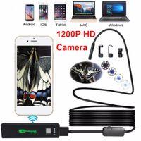Freeshipping 8LED 3.5 M Suave Flexible Flexible Serpiente USB WIFI Android Endoscopio Cámara 1200P HD 8mm IP68 Cámara de inspección de tuberías a prueba de agua