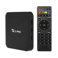 Vendita calda TX3 PRO Android 7.1 TV BOX Amlogic S905W Quad core 1GB / 8GB HDMI H.265 WIFI 3D Smart Media Player