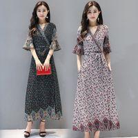 Новая давно Индия Пакистан Одежда весны лето Национального Стиль Vintage Женщины Bohemia печать Цельная этническая одежда платья индийского платье