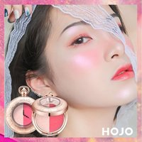 Fashion HOJO Brand Highlight Blush Double Color Trimming Blush Maquillaje Profesional Rouge Blush Maquillage Palette