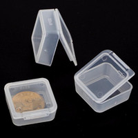 Small Square Plastic Clear Transparent Collection Container ...