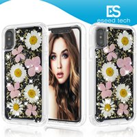 For iphone X case Soft Silicone Ultra- Thin Cover Dried Flowe...