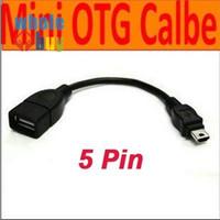 태블릿 PC 휴대 전화 또는 MP4 MP5를위한 마이크로 USB 미니 5 핀 T 형 인터페이스 호스트 케이블 OTG 어댑터 11cm 미니 USB 케이블