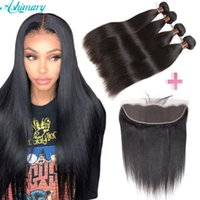8A Brazilian Straight Human Hair Extensions 4 Bundles & Lace...