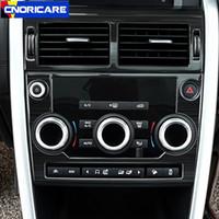 Car Center Console Modell Button Rahmen Dekoration Abdeckungsbesatz für Land Rover Discovery Sport 2015-18 Edelstahl Abziehbilder