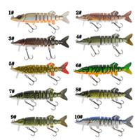 Neue Moschus Salzwasser Crankbaits köderfisch Angelhaken 12,5 cm 20g 9 Segmente Lebensechte Lebendige Nizza Schwimmen fischköder