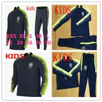 KIDS Brazil tracksuit training suits Uniforms Chandal 2018 1...