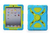 Pepkoo Defender 군사 거미 스탠드 물 / 흙 / 충격 방지 케이스 커버 iPad 2 3 4 5 6 Air Mini 1 2 3 iPad Air 2에 대 한 iPad Pro 2017