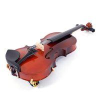 أزياء 1/8 الصوتية الكمان الخشب الصلب مع حالة القوس الصنوبري سلاسل الكتف الراحة موالف الطبيعية
