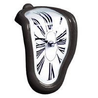 كتلة الإبداعية التواء ساعة رقمية الرجعية تشويه غير النظامية ساعة الانحناء ساعة الحائط