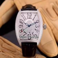 أفضل نسخة الدار البيضاء 8880 جميع الماس الهاتفي فضة حالة الفولاذ التلقائية ووتش رجالي حزام من الجلد الأسود الساعات الرياضية B63b2