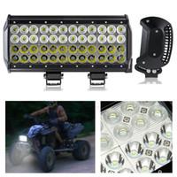 Işıklar 12 inç 144 W LED Çalışma Işık Bar Spot Sel 4x4 Offroad Ute Tekne Kamyon 12 V 24 V