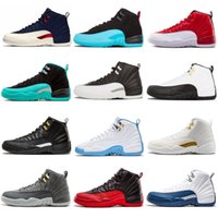 Jumpman 12 12s Basketball Shoes For Men 2019 New Gym Red Mic...