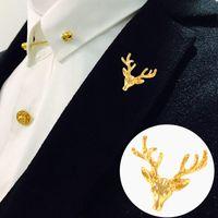 SAVOYSHI كلاسيكي الذهب لون دير الرجال طية صدر السترة دبوس دبابيس دبابيس هدية الجميلة للرجل دبابيس الياقة حفلة خطوبة مجوهرات