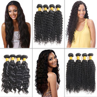 8A Mink Brazillian Deep Wave Hair Bundles Wefts 100% Unproce...