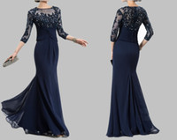 Free Shipping Mother Of The Bride Dresses 2018 3 4 Sleeve Mo...