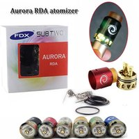 AURORA RDA atomizer rebuildable dripping led flash vaporizer...